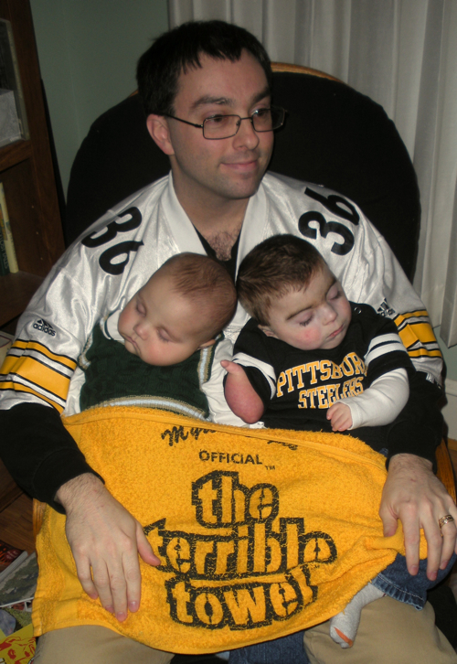 he can still wave the terrible towel while sleeping